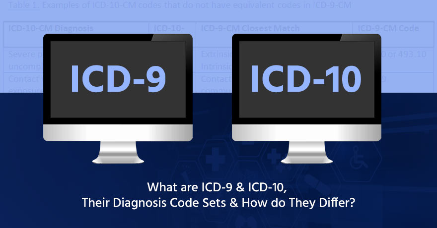 The Diagnosis Code Sets of ICD-9 & ICD-10 and How are They Different